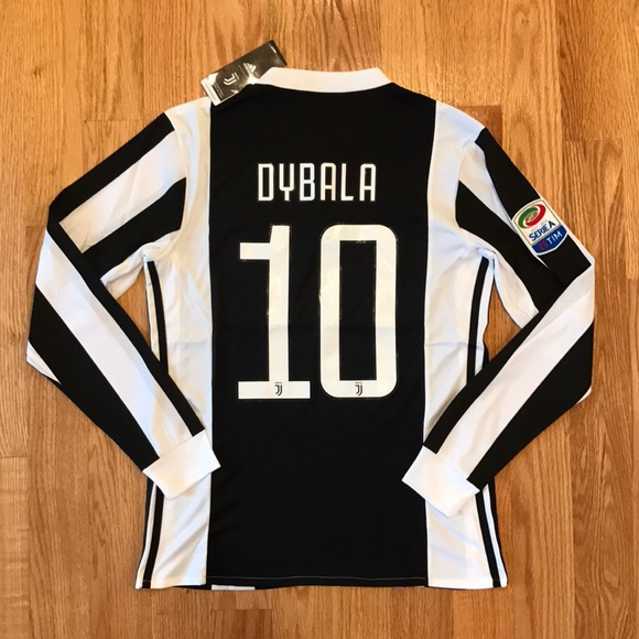 best website eaab4 99497 coupon code for juventus 10 dybala third long sleeves soccer ...